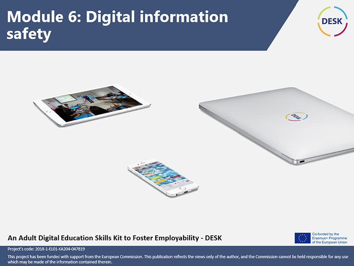 Course Image MODULE 6 - Digital information safety